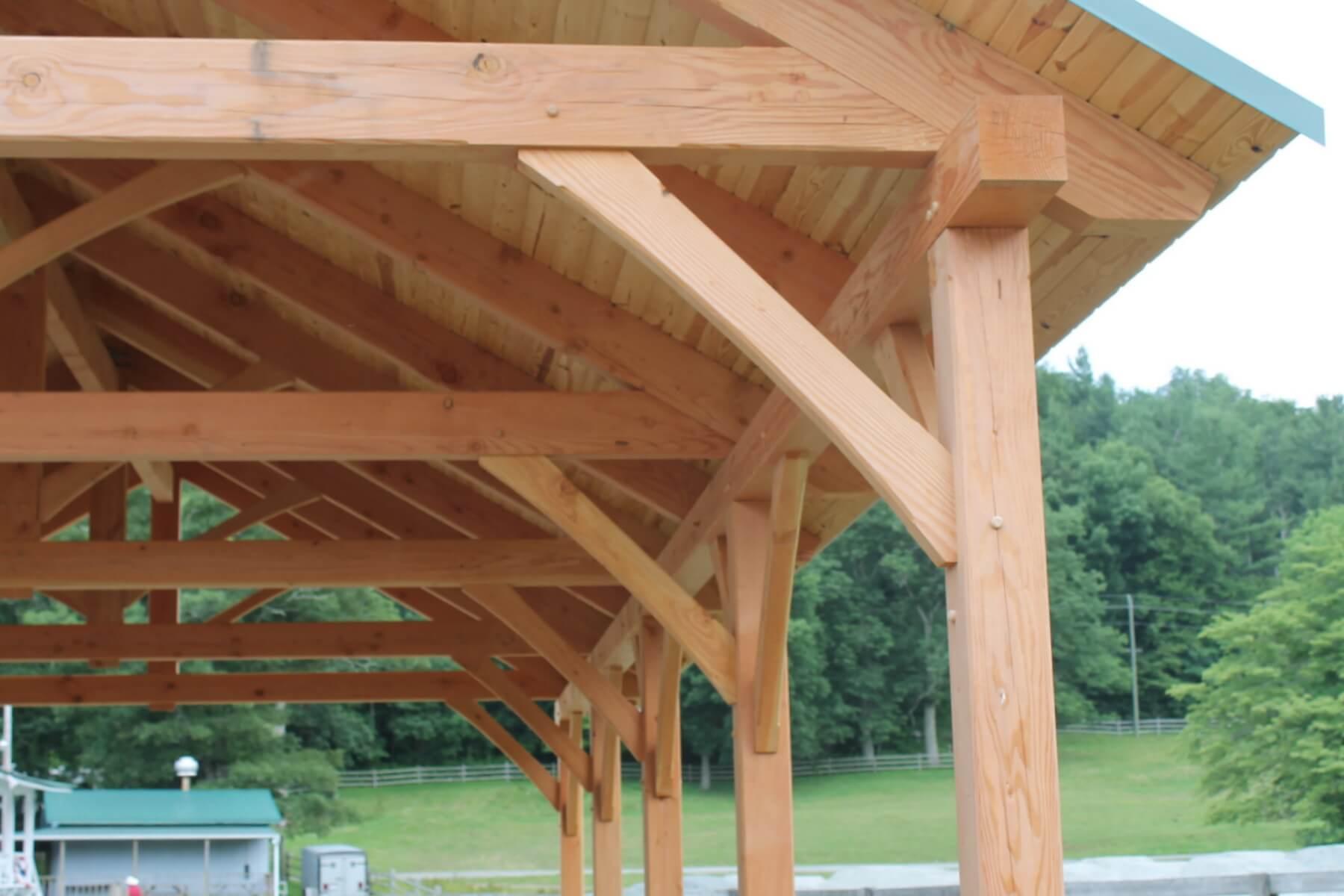 Pavilion Framing Connection Detail | Harmony Timberworks