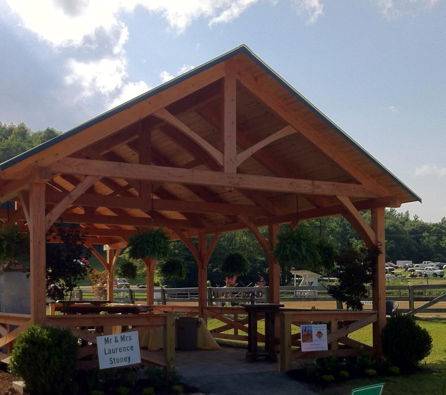 Pavilion Entry Point Framing | Harmony Timberworks
