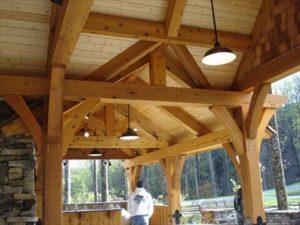 Pavilion Exterior Wooden Trusses