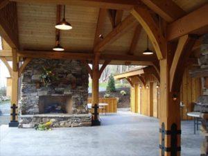 Pavilion Exterior Wooden Posts