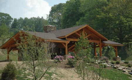 Exterior Wooden Pavilion