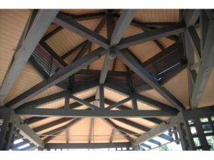 Pavilion Ceiling Wooden Truss Detail
