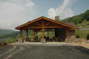 Pavilion Wooden Exterior