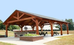 Wooden Timber Pavilion