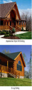 Log Home Siding - Appalachian and D-Log