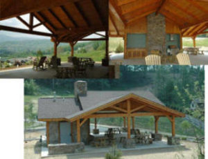 Outdoor timber pavilion - Outdoor kitchen