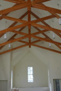 Worship King Post Scissor Trusses